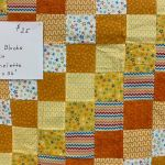 Orange Blocks Quilt #208