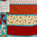 Orange Pinwheel Quilt #206